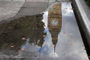 Reflection of Big Ben, London