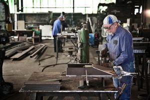 Steel worker in Millvale, Pennsylvania