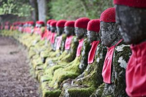 Jizo Statues, Kanmangafuchi, Nikko, Japan