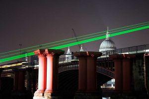 Lasers across Blackfriers