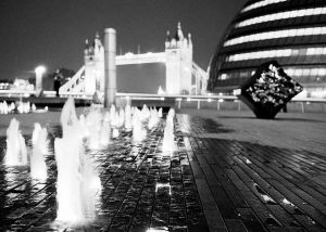 Tower Bridge with fountains