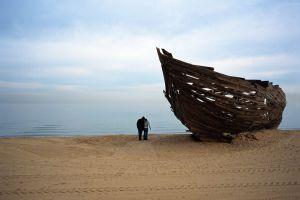 St Kilda Boat Sculpture
