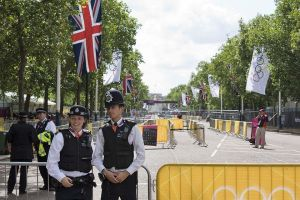 Met Police on the mall