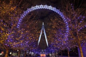 London Eye Wheel at Night