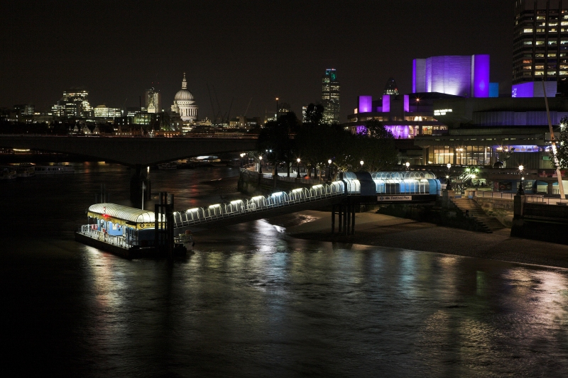 View towards South Bank at night